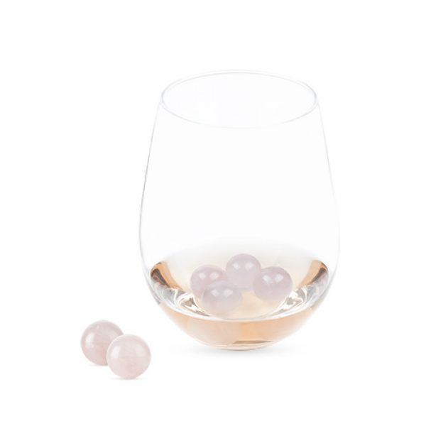 Twine Garden Party: Rose Quartz Wine Gems Set of 6