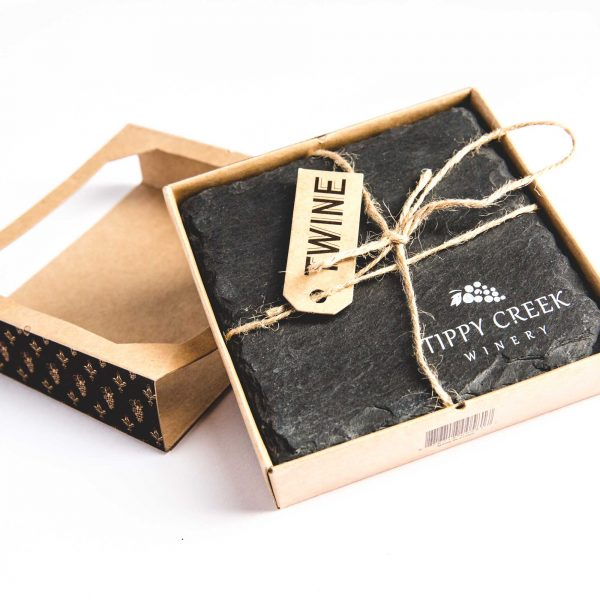 Tippy Creek Winery Twine Slate Coasters