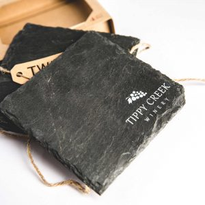 Tippy Creek Winery Slate Coasters