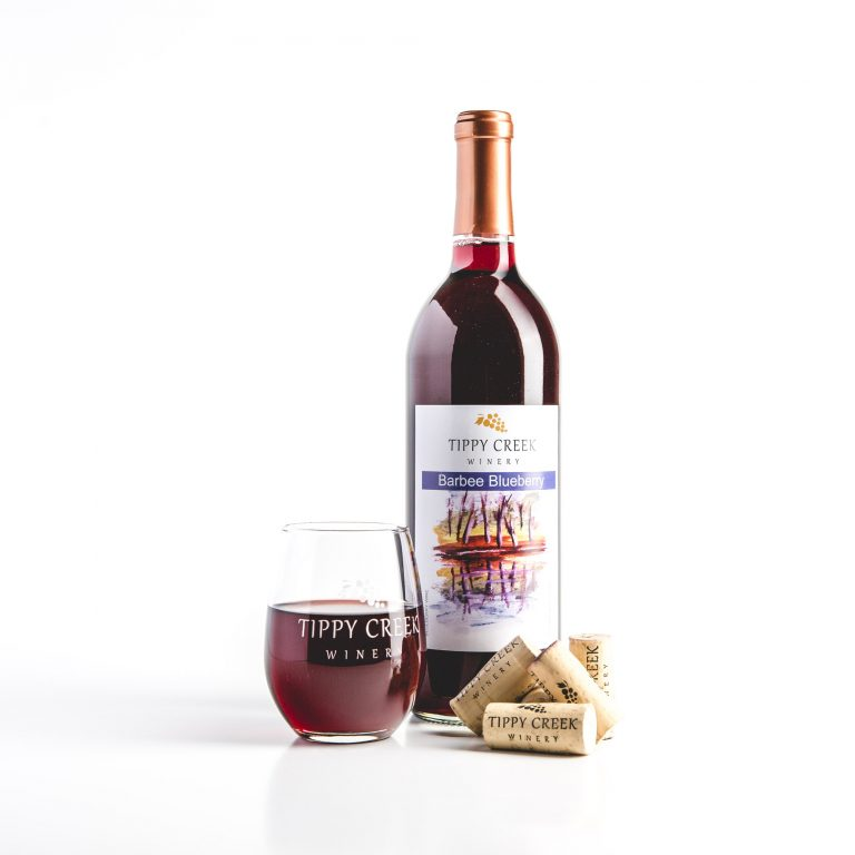 Barbee Blueberry. Red Wine by Tippy Creek Winery.