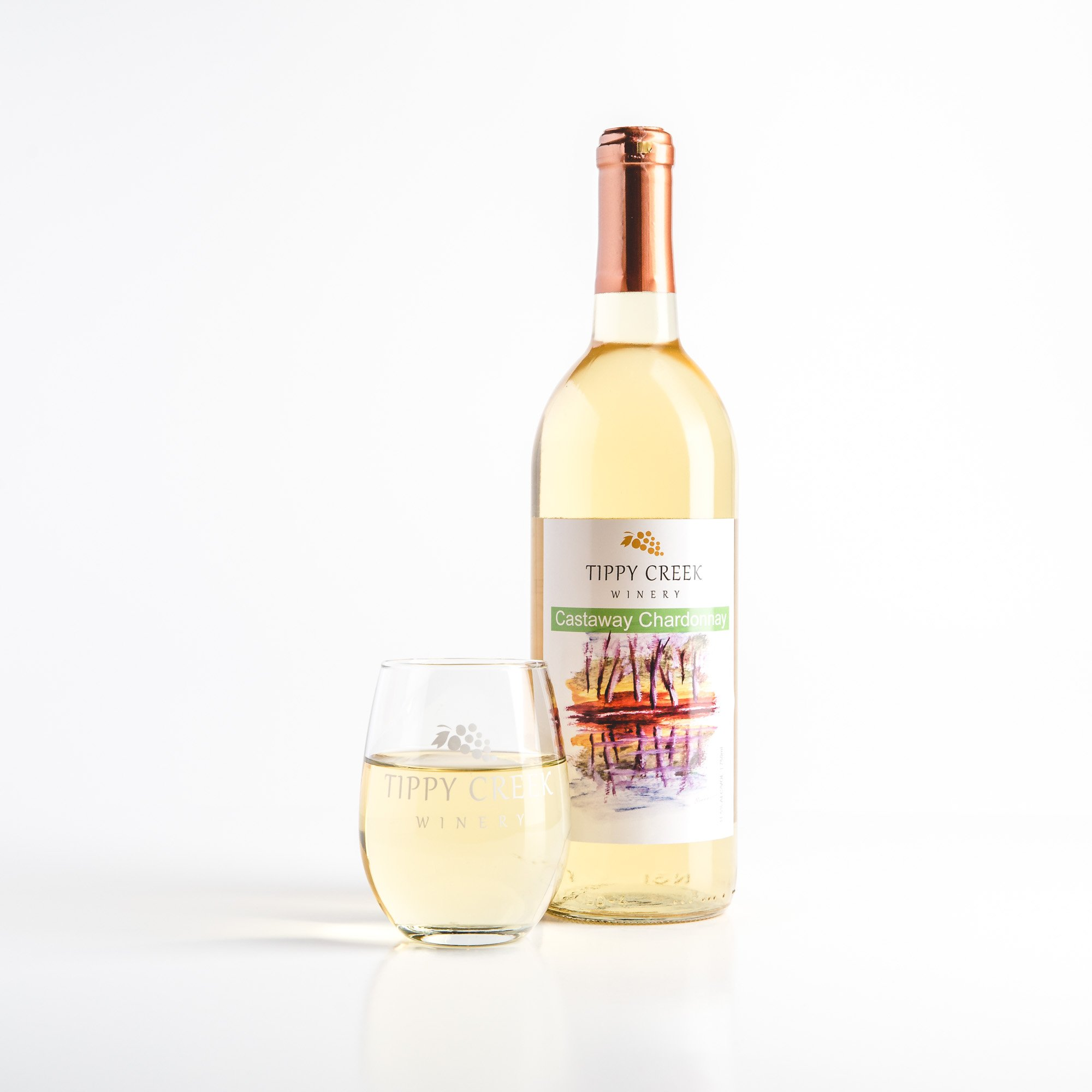 Castaway Chardonnay White Wine by Tippy Creek Winery