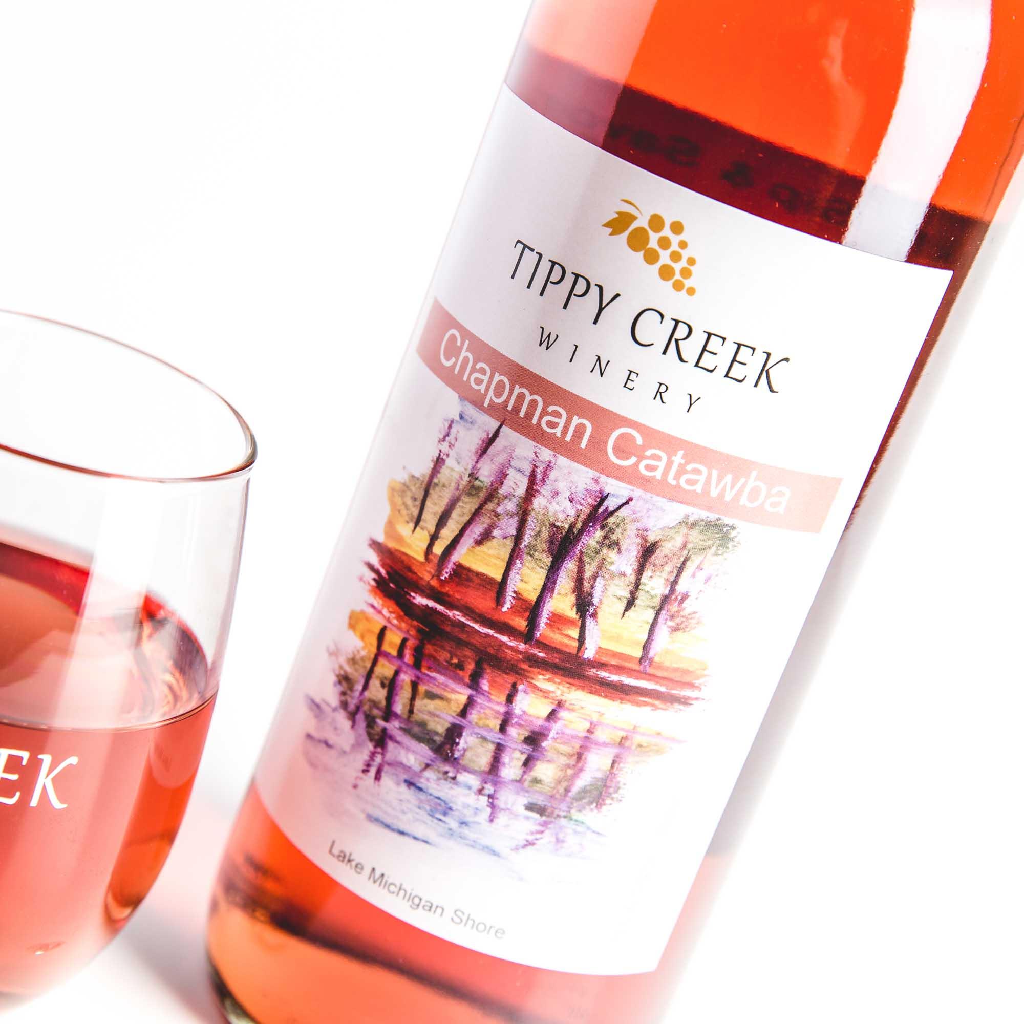 Chapman Catawba. Rose Wine by Tippy Creek Winery.