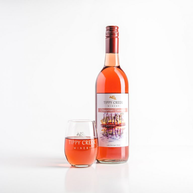 Chapman Catawba Rose Wine by Tippy Creek Winery