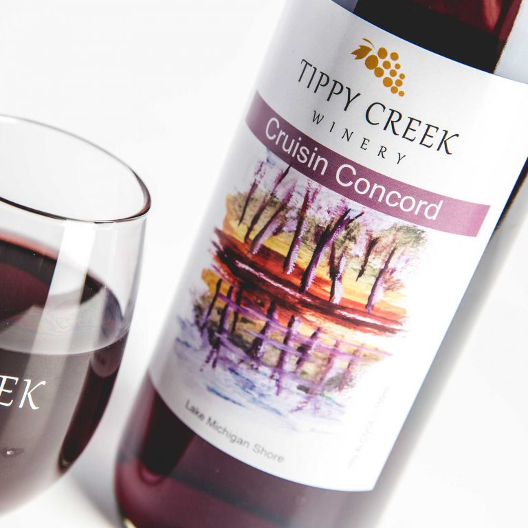 Cruisin Concord Red Wine by Tippy Creek Winery