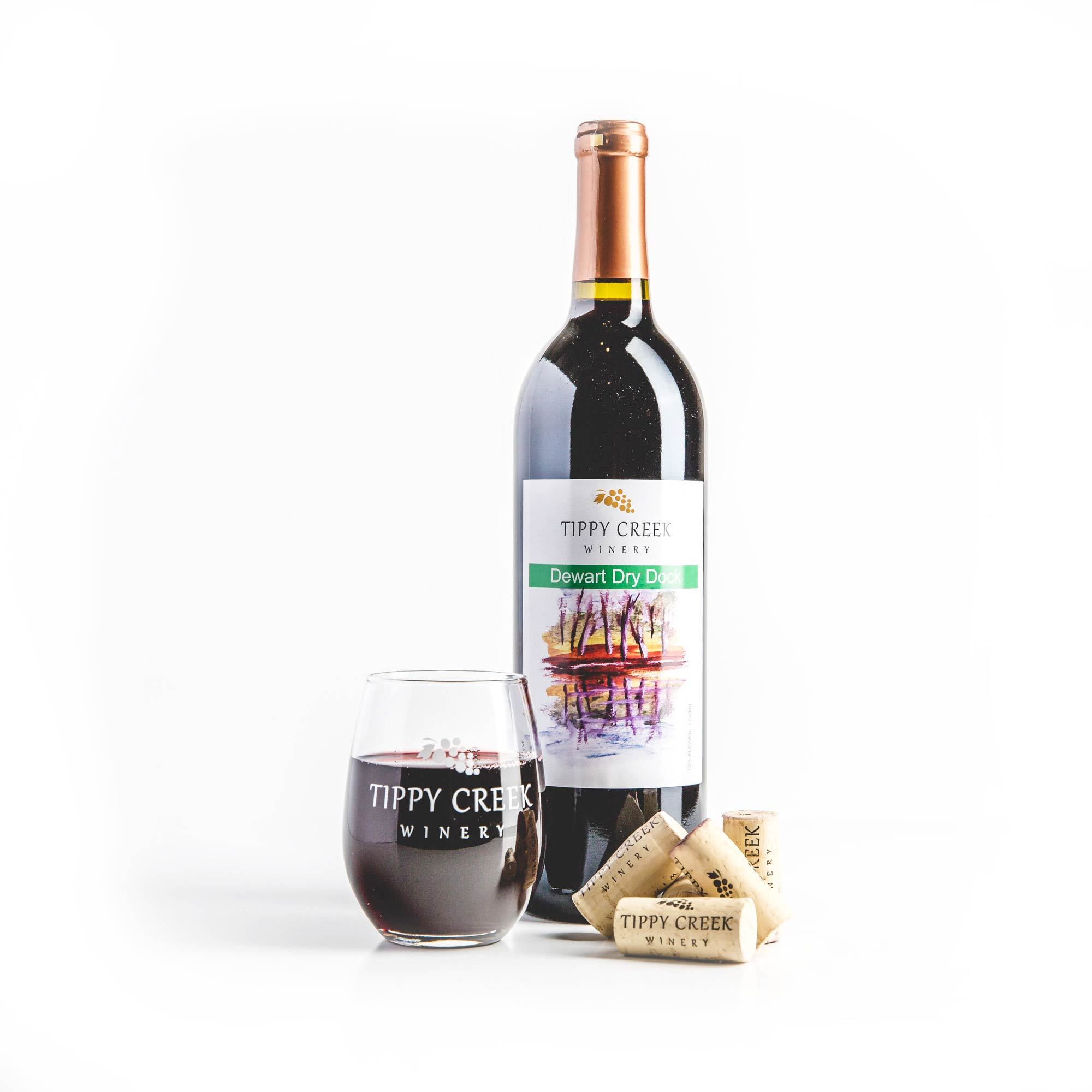 Dewart Dry Dock red wine by Tippy Creek Winery