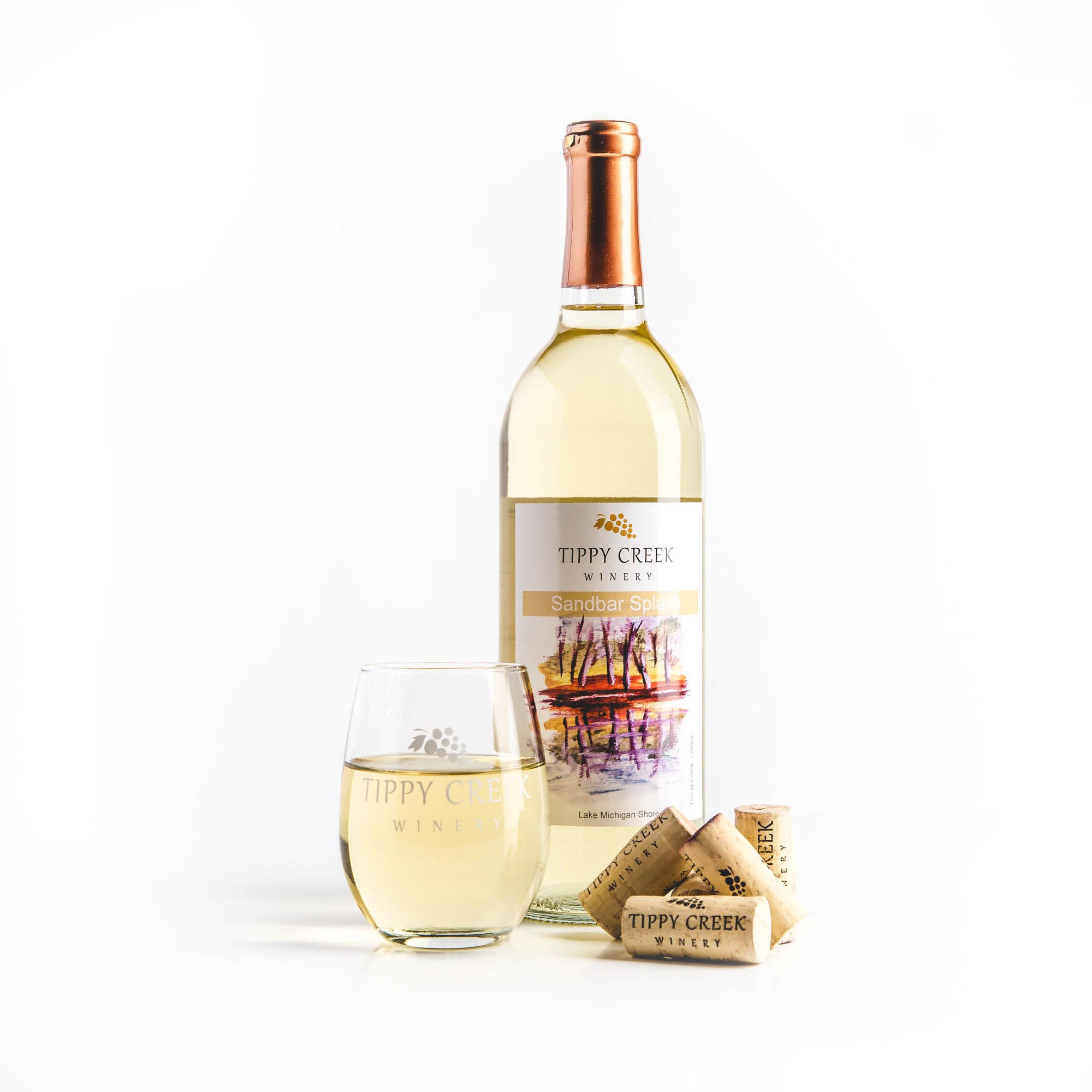 Sandbar Splash White Wine Tippy Creek Winery