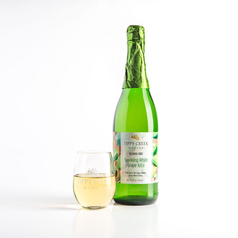 Sparkling Grape Juice by Tippy Creek Winery