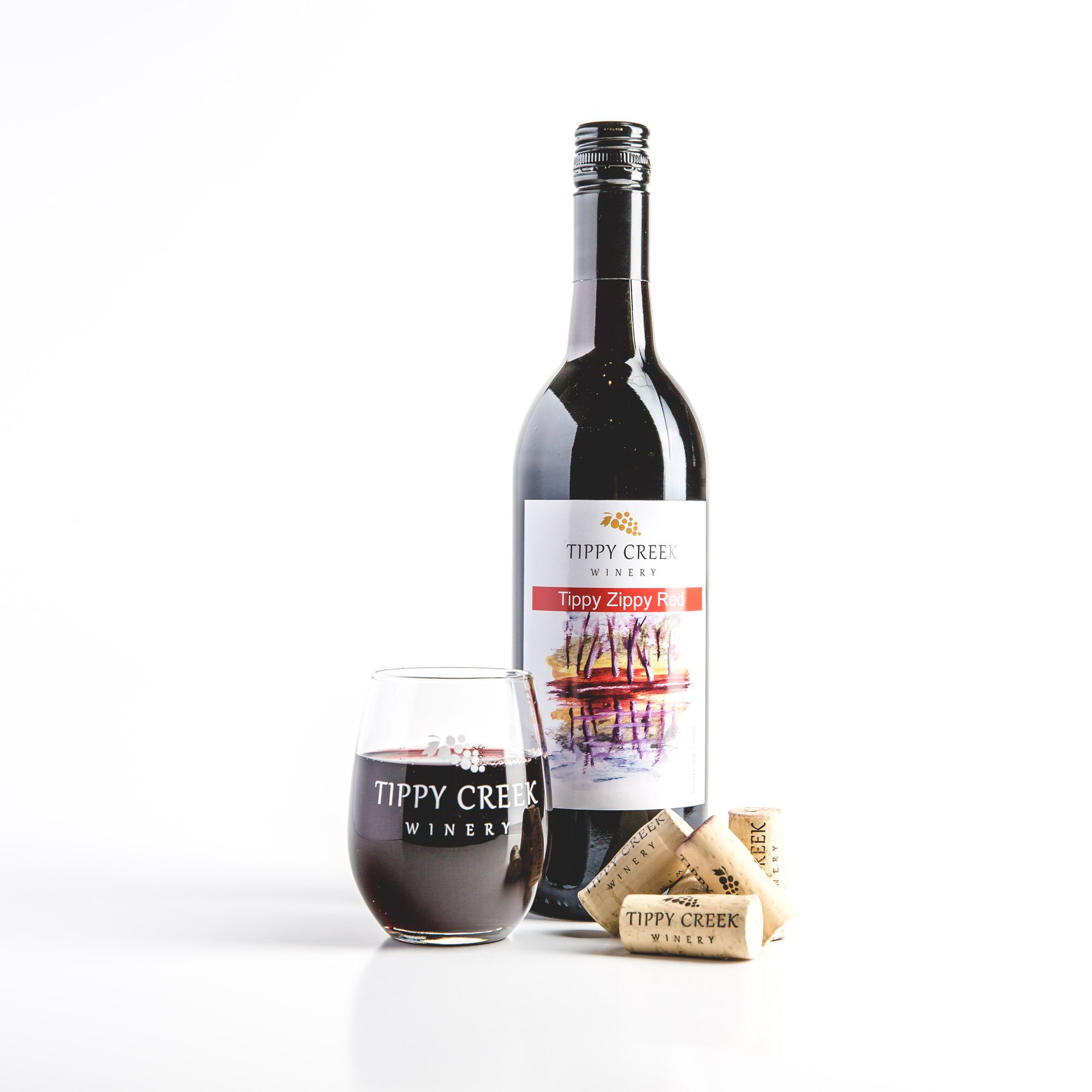 Tippy Zippy Red Wine by Tippy Creek Winery
