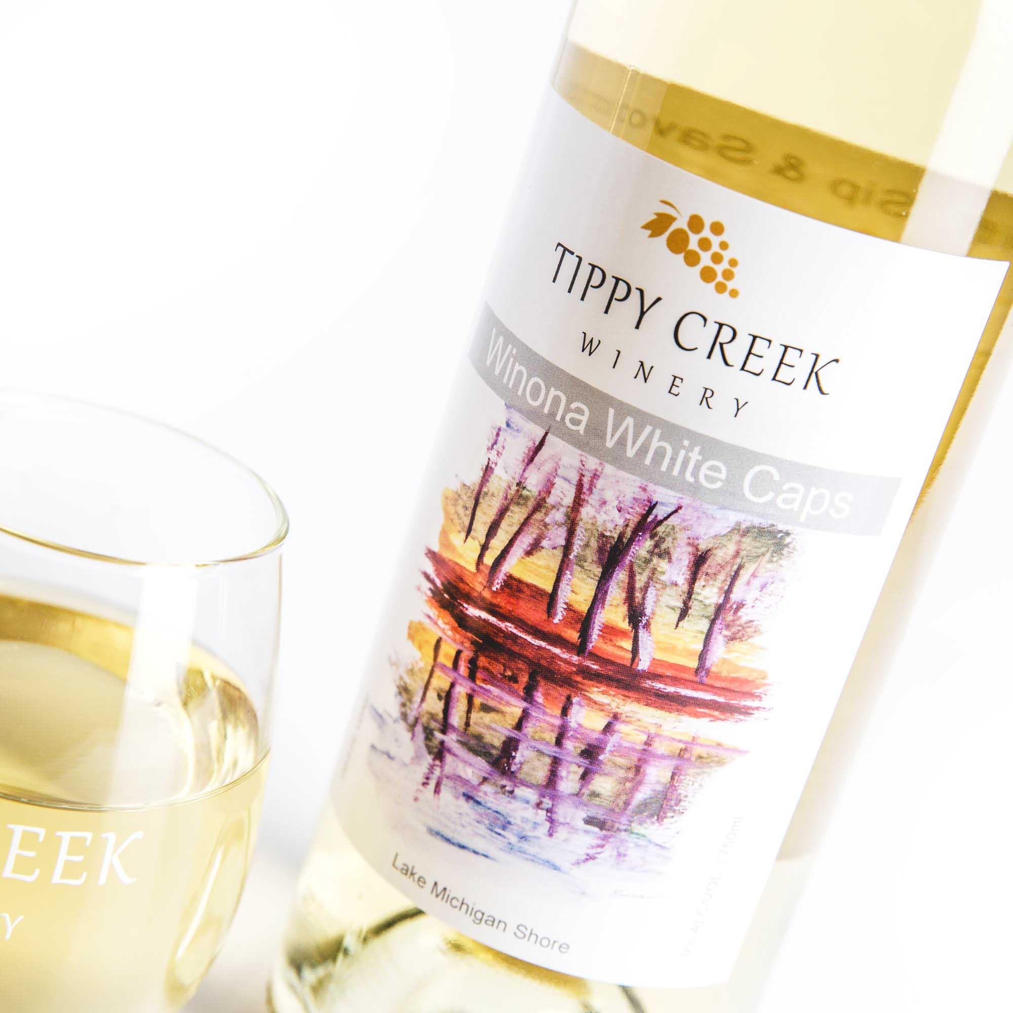 Winona White Caps. White Wine by Tippy Creek Winery.