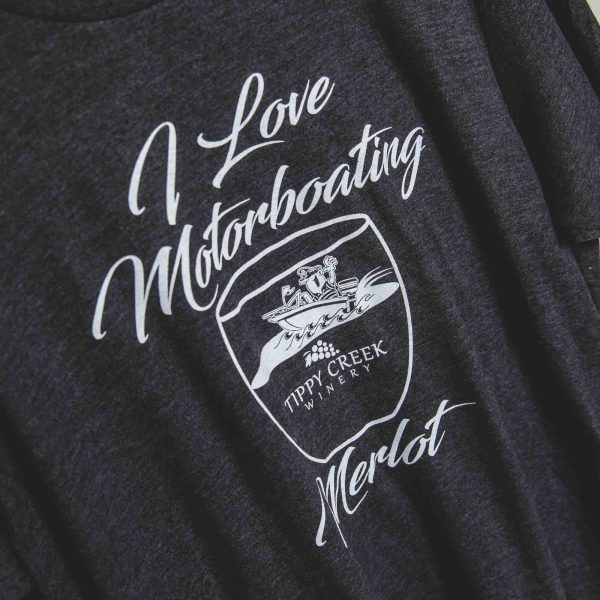 I Love Motor Boating Merlot T-Shirt