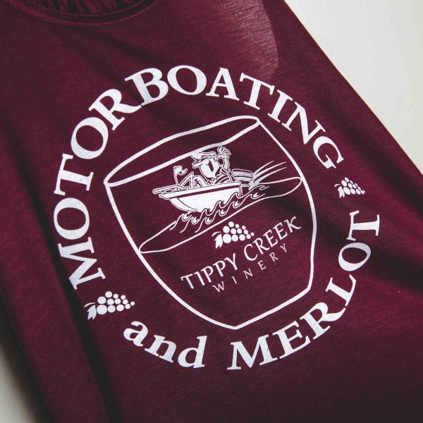 Motor Boating Merlot Tank Top