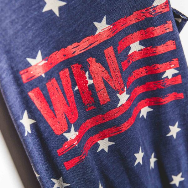 Wine American Flag Tank Top