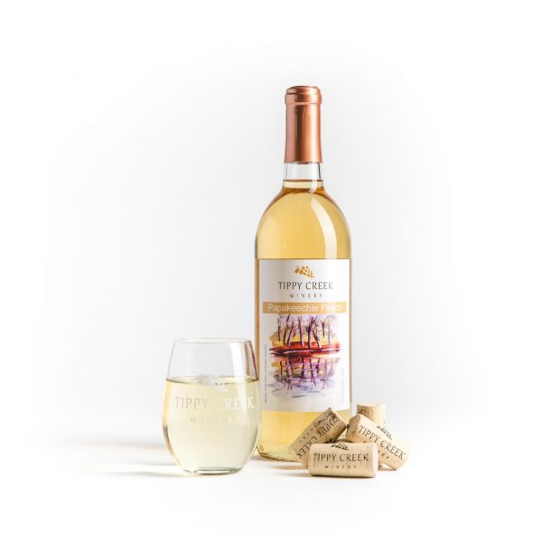 Papakeechie Peach White Wine Tippy Creek Winery