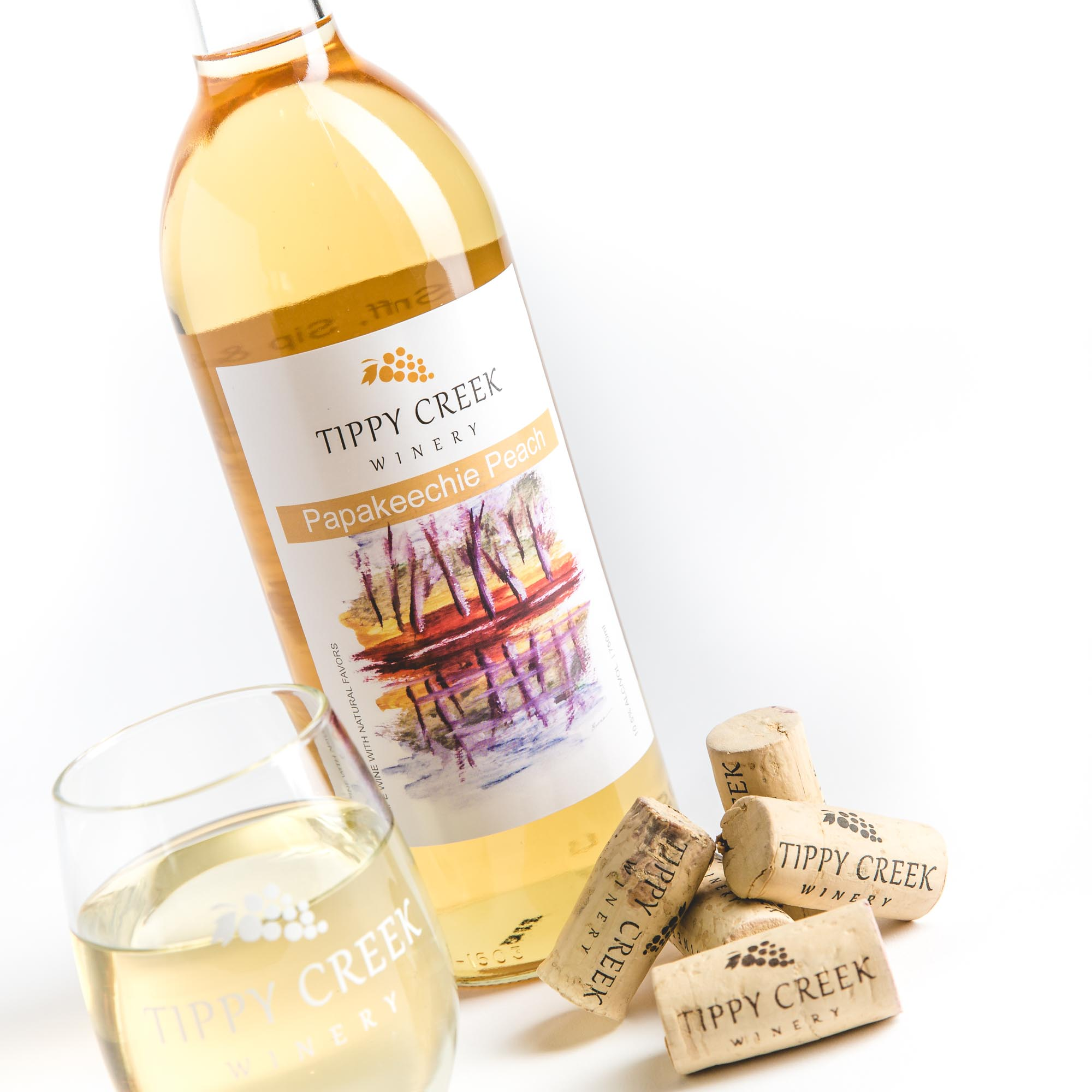 Papakeechie Peach White Wine Tippy Creek Winery
