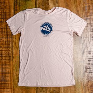 Tippy Creek Winery Circle Logo Light Pink Tee