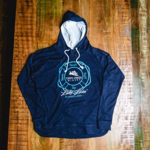 Swirl Sniff Sip Savor Lake Livin Sweat Shirt by Tippy Creek Winery